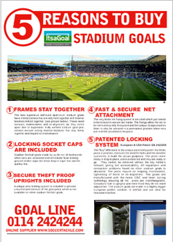 Adult football goals by ITSA Goal Posts